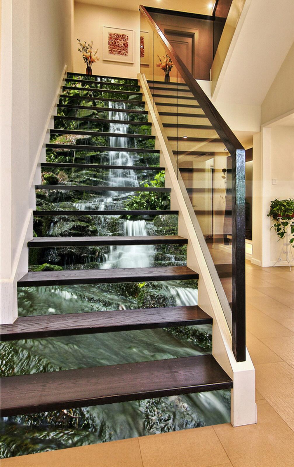 3D Wasserfluss 2005 Stair Risers Dekoration Fototapete Vinyl Aufkleber Tapete DE