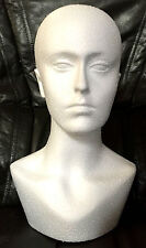 Polystyrene Unisex Male Female Display Mannequin Head Dummy Wig Stand