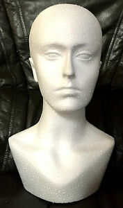 Polystyrene-Unisex-Male-Female-Display-Mannequin-Head-Dummy-Wig-Stand