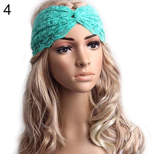UK/_ EG/_ Women/'s Lady Pretty Twist Knot Turban Lace Headband Wrap Hair Band Pop N