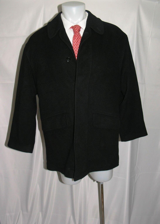 Barneys New York Pure Cashmere Full Length Pea Coat 40 R