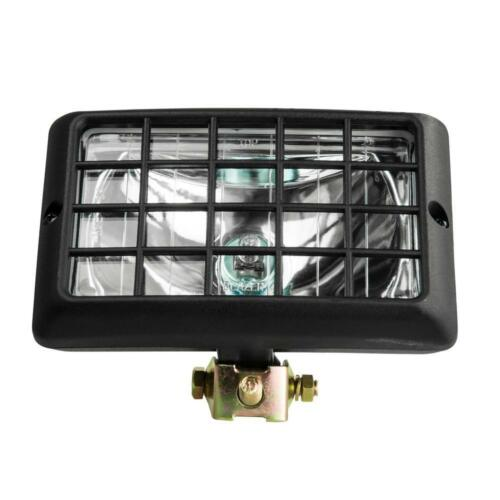 12 Volt Halogen Spot Light Beam Rectangular Clear Vehicle Tractor Utility Light