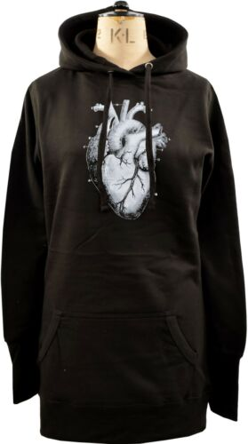 WOMENS HOODIE DRESS ANATOMICAL HEART VICTORIAN ILLUSTRATION BIOLOGY GOTH S-XL