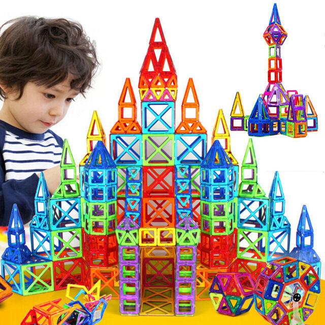 164Pc Set Magnetic Construction Designer Toy Design Building Home Tower Magnet