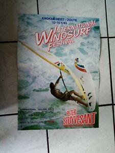 Windsurfing  Festival Tour  Plakat - Poster/Werbeplakat  1983  - 35x 49 cm