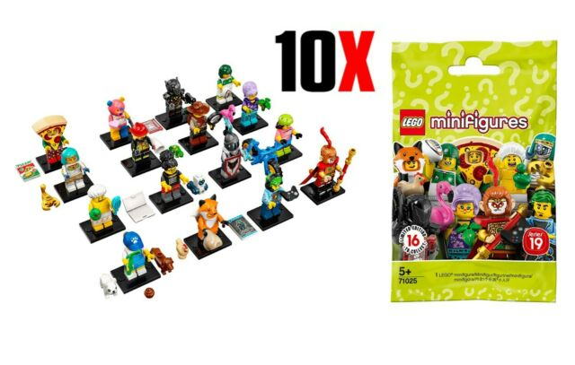 10x LEGO Minifigures Series 19 - 71025 Brand new & SEALED
