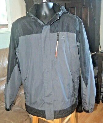 IZOD Mens Rain and Wind Resistant Preformance Jacket with Hidden Hood