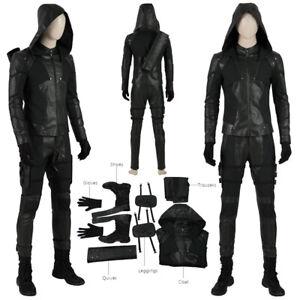 Green-Arrow-Cosplay-Costume-Season8-Oliver-Queen-Halloween-Outfit-Superhero-Suit