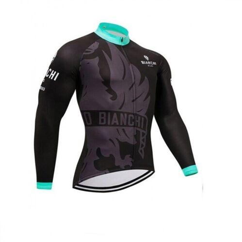 Bianchi Radfahren Trikot Fahrradbekleidung Langarm Gel Radtrikot Cycling Jersey