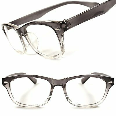 Stylish Fashion Vintage Retro Nerd Mens Womens Clear Lens Glasses Hot Frame E64A