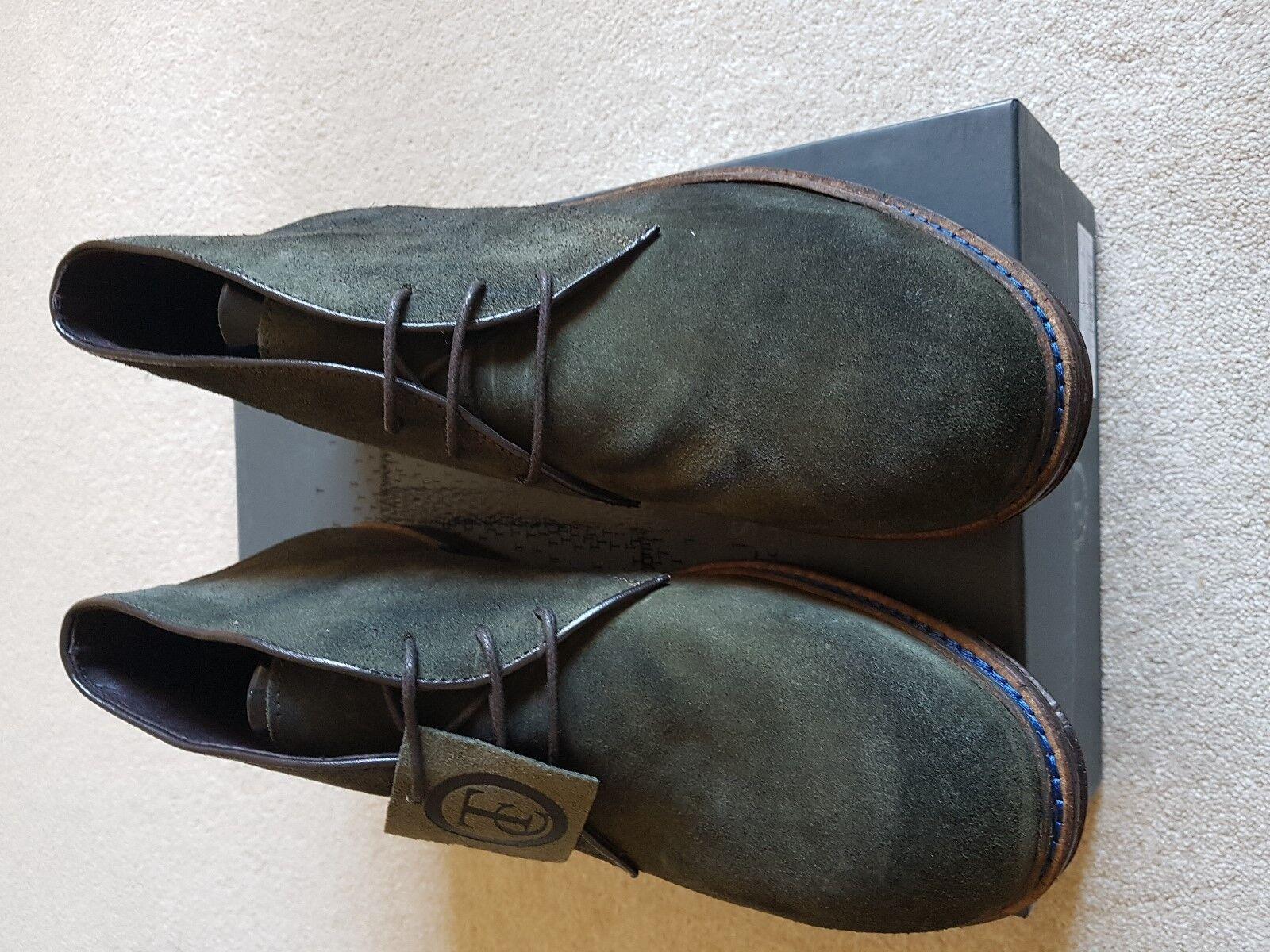 botas para hombre BNWB Trussardi verde