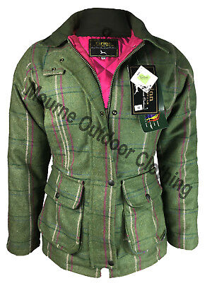 a221fe7f9353c Ladies Women Eirinn Country Wear Derby Hunting Tweed Jacket Teflon Shooting  Coat | eBay