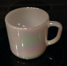 Irridescent Color Federal Glass Company Mug Vintage Opalescent Coffee Cup