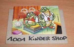 KINDER-PUZZLE-CRAZY-CROCOS-KROKO-SCHULE-1991-D-back-side-used