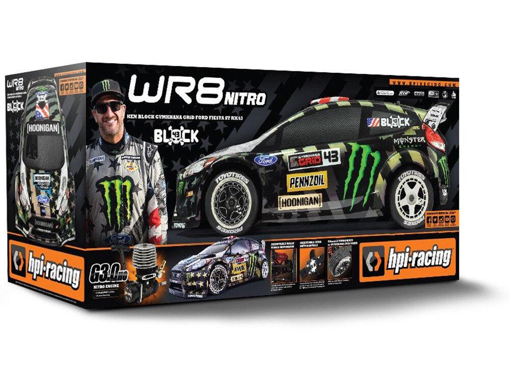 HPI WR8 Nitro Ken Block Gymkhana Ford Fiesta ST RX43 RTR 1 8 Rally 120037 OZRC