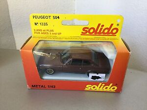 VINTAGE-SOLIDO-VINTAGE-PEUGEOT-504-RALLY-COUPE-039-1-43-Scale-NIB
