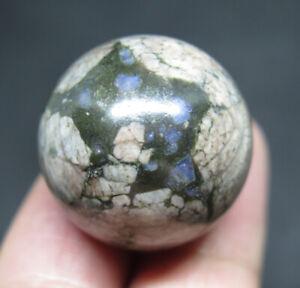 25mm 0.7OZ Natural Llanite Jasper CRYSTAL Sphere Ball