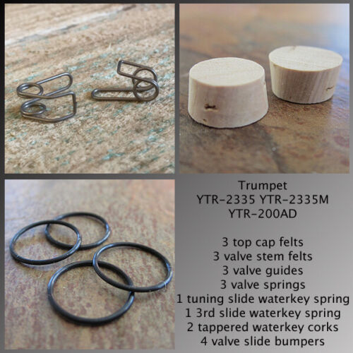 YAMAHA YTR-200AD Advantage Trumpet Parts Kit to Rebuild Your Horn