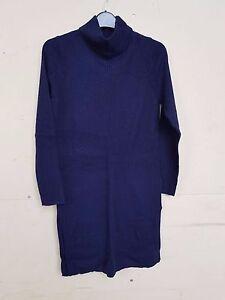 S 12 lana M taglia con € 00 Tag maglione 55 lungo in blu Bnwt Autografo Ladies fTxqEwP4a