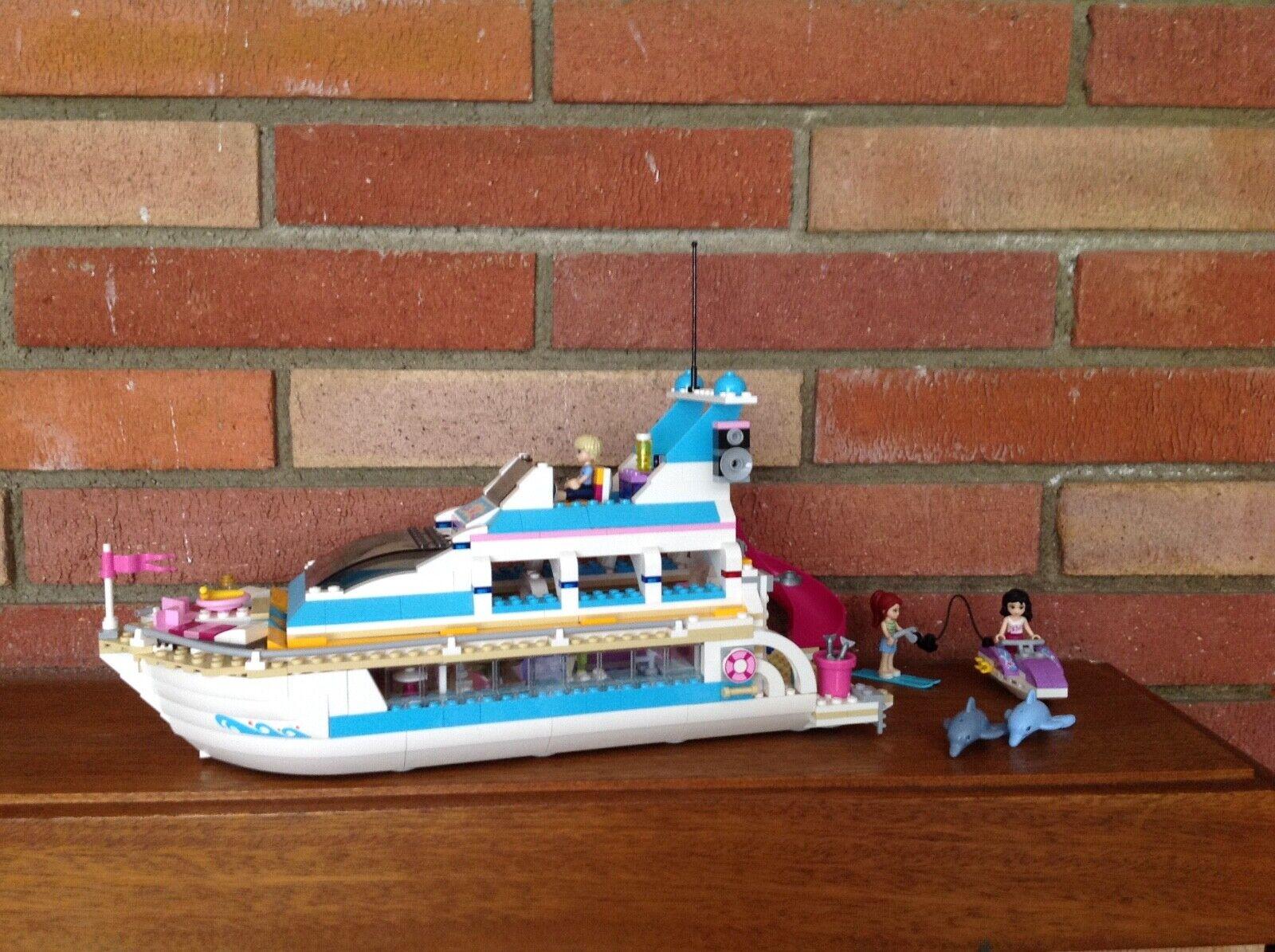 Lego FRIENDS 41015 Dolphin Cruiser with instructions EUC retirot