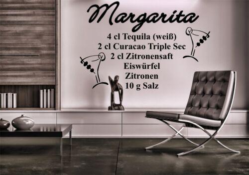 "Murales cóctel receta trago /""margarita/"" bar fiesta sótano pegatinas Lounge"