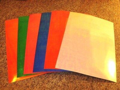 "12/"" x 8/"" CRUSHED PEARL MATTE Bulk Fishing Lure Tapes In 8 Colors"