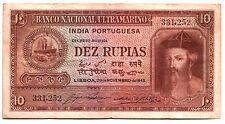 FULL COLOR FULL SZ REPRINT (Cópia) RARE PORTUGUESE INDIA BILL Conquistador/Ships