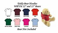 Teddy Bear Clothes Hoodie To Fit Approx 12 Or 15 Bear (15 Fits Build A Bear)