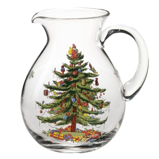 Spode Christmas Tree Sale: Spode Christmas Tree Glass Pitcher 6pt For Sale Online