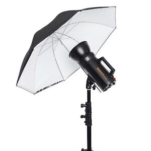 """Neewer 30"""" White Umbrella with Removable Black Cover & Reflective Silver Backing"""