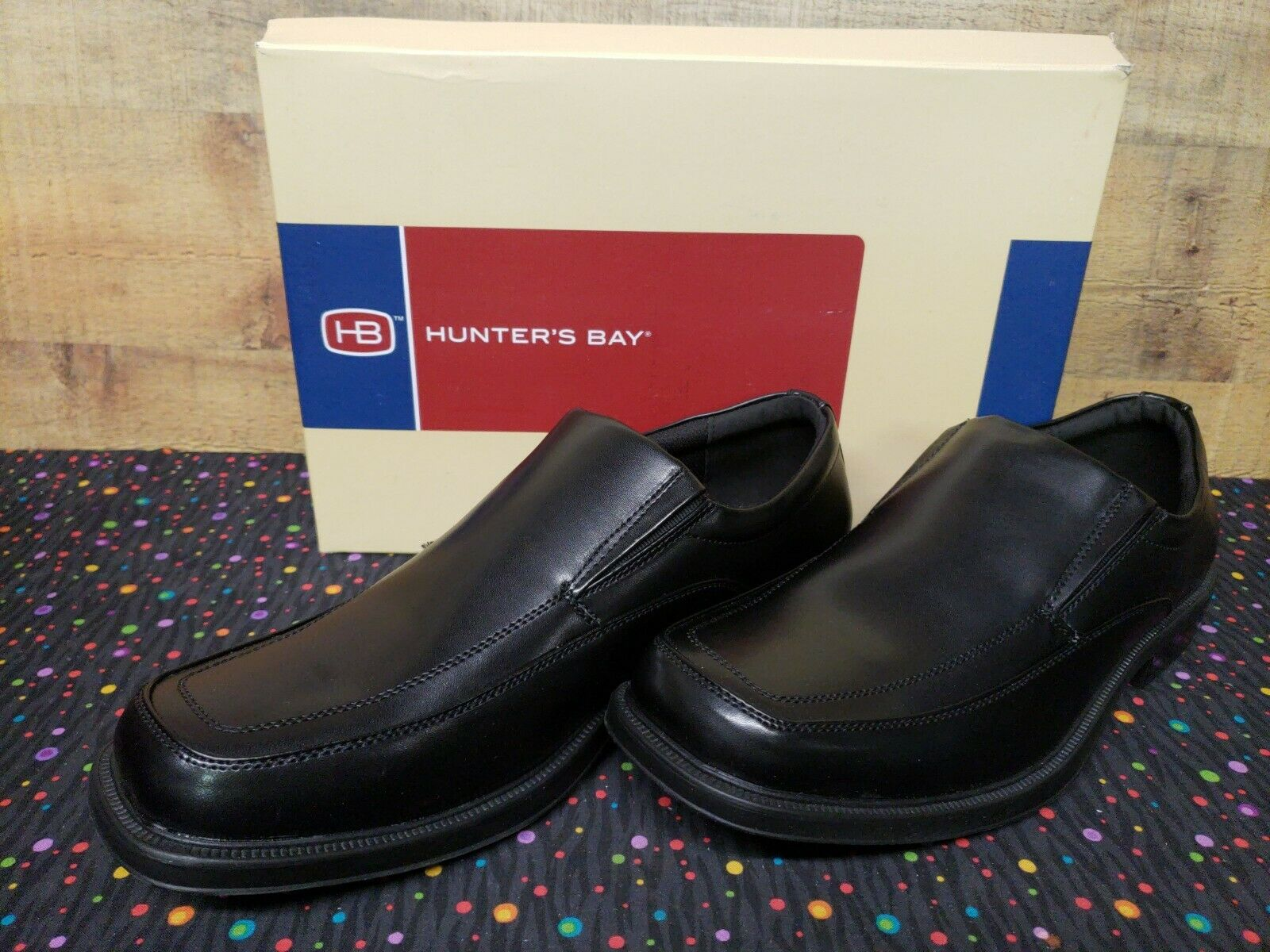 Hunters Bay 180012 Spencer Slipon Dress Mens shoes Size 13 New With Box