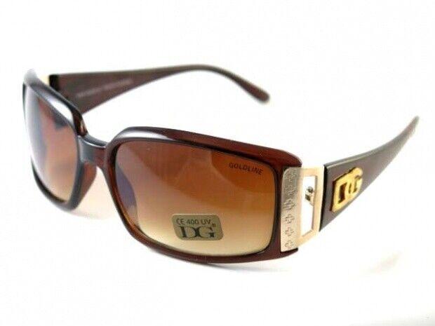2020 Neu Gold Line Braun Sonnenbrille Damen Eyewear Sunglasses Designer Shades