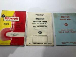 1964  L S STARRETT COMPANY tools catalogue number 64 & 2 x price lists ephemera