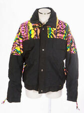 Vtg ST JOHNS BAY Retro 90s Grunge Neon Print Snow Board Ski Jacket Coat Mens S