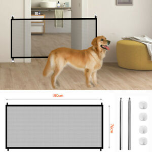 Magic-Mesh-Pet-Dog-Gate-Door-Barrier-Safe-Guard-Fence-Enclosure-Easy-Install-US