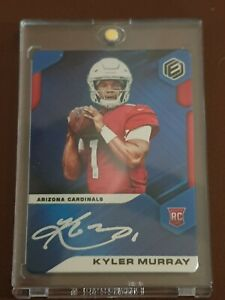 Nfl-trading-card-Kyler-Murray-Elements-Blue-Rookie-Card-on-Metal-Auto-03-10