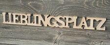 Lieblingsplatz Schriftzug aus Holz 60cm braun Buchstaben Wanddeko Holzschild NEU