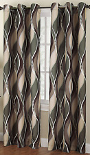 Window Curtain Panel Home Decor 48 x 84'' Room Casual Textured Grommet Curtains