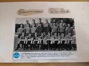 1-FC-Nuernberg-2-Autogramme-Gruppenfoto-und-Bild-um-1965