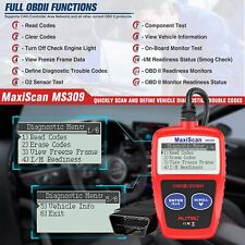 Autel Maxiscan Ms309 Code Reader Obd2 Scanner Car Check Engine Fault Diagnostic