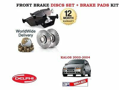FRONT BRAKE DISCS AND PADS FOR DAEWOO KALOS 1.2 8//2003-1//2005