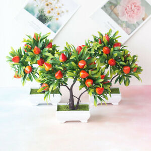 Am-1Pc-Artificial-Fruit-Strawberry-Tree-Bonsai-Home-Office-Garden-Desk-Party-De