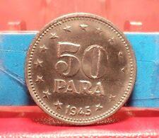 CIRCULATED 1945 50 PARA YUGOSLAVIA COIN. (R)