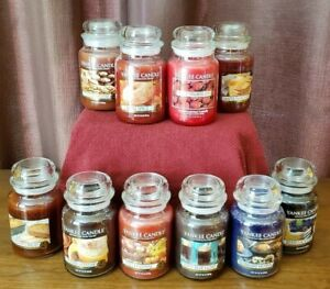 YANKEE-CANDLE-034-YOU-CHOOSE-034-Scented-Jar-Candle-22oz-HTF-RARE-WHITE-LABEL