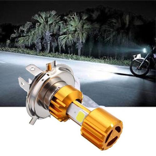 H4 Motorcycle 10W LED 3 COB Motorcycle Headlight Bulb 500LM Hi//Lo Beam Light@
