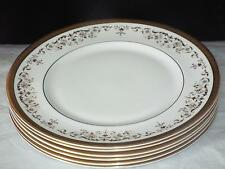 SET of 6 Royal Doulton Bone China H 4991 Belmont Gold 27cm DINNER PLATES 1st Qu.