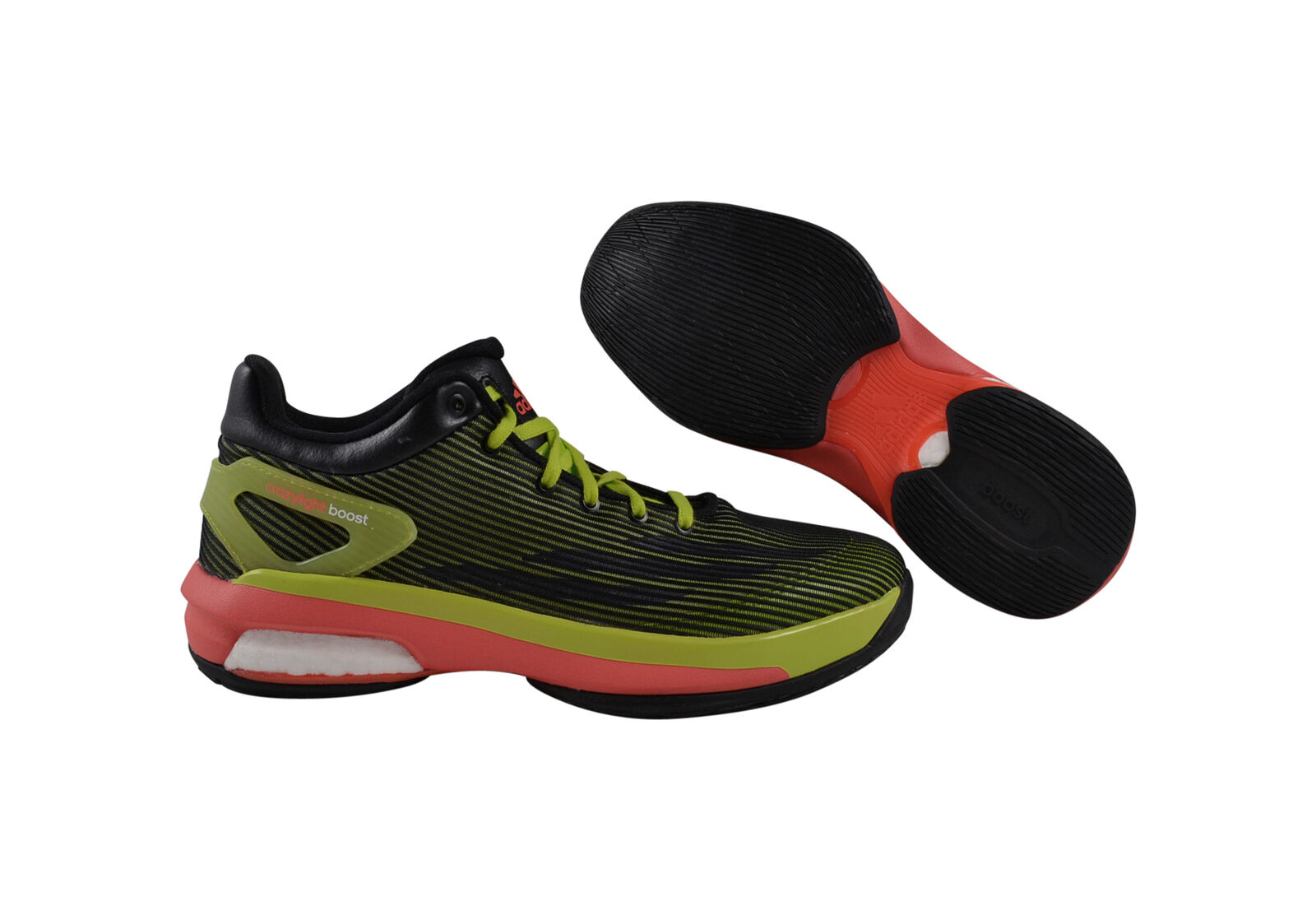 Adidas Crazylight Boost Low black/green/red Basketballschuhe schwarz