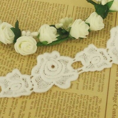 Roses Ivory Cotton Guipure Wedding Lace Trim Vintage Inspired 45mm wide 2m LC42