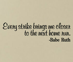 Image Is Loading BABE RUTH VINYL WALL DECAL STICKERS HOME MURAL