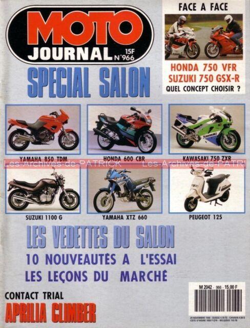 MOTO JOURNAL  966 Essai Road Test HONDA VFR Carat 750 GSX-R SUZUKI NSU Max OSL